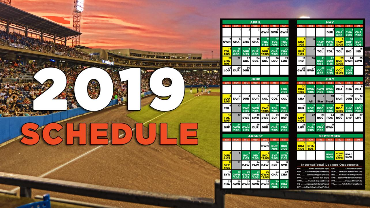 Check out the 2019 Schedule