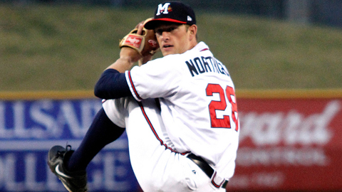 Aaron Northcraft led the Carolina League with 160 strikeouts last year.
