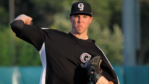Jonathan Gray has a 2.95 ERA and 22 strikeouts in five Minor League starts.