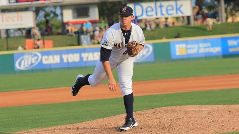 Manatees relief pitcher Mark Williams earned the win on Sunday evening as he threw three scoreless innings. Brevard County defeated the Clearwater Threshers 2-1, to take two out of three in the series.