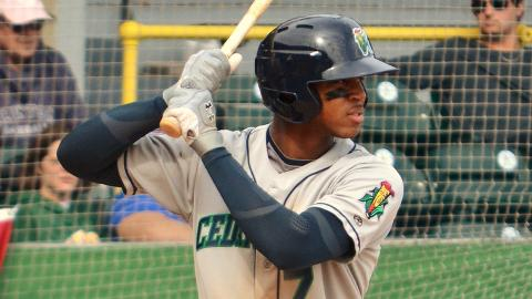 Byron Buxton leads the Midwest League with 78 hits this season.