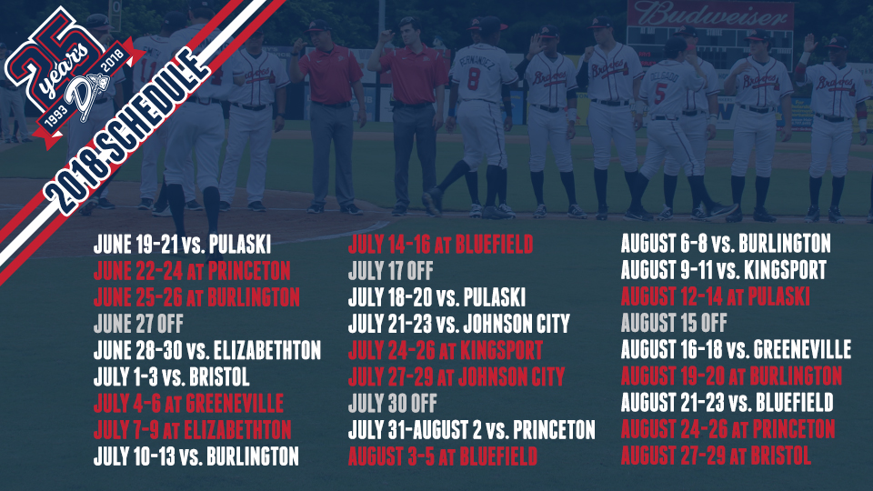 D-Braves release schedule for 25th anniversary season