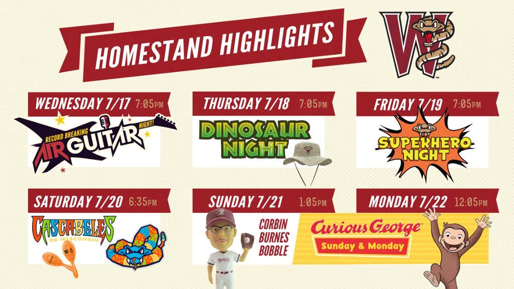 July 17-22 | Homestand Highlights