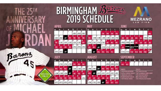 photo about Milwaukee Brewers Printable Schedule named Barons Launch Comprehensive 2019 Timetable Birmingham Barons Information