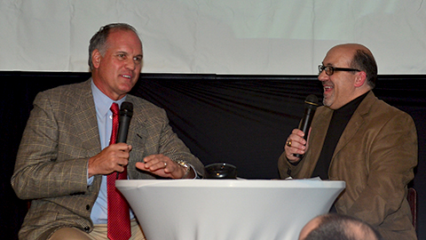 Phillies manager Ryne Sandberg discussed his career and expectations for his 2014 squad at the Cutters Hot Stove Banquet