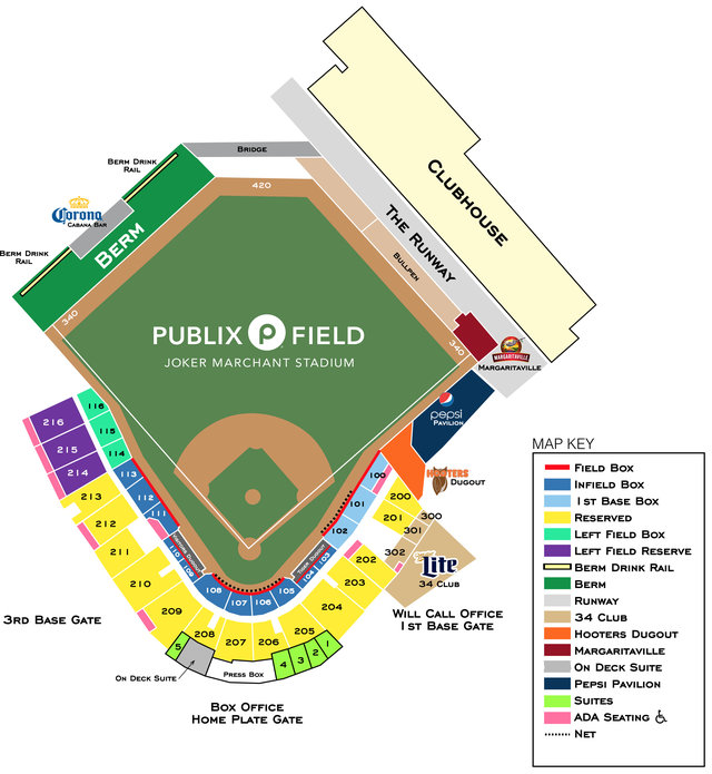 Seating chart lakeland flying tigers stadium club info