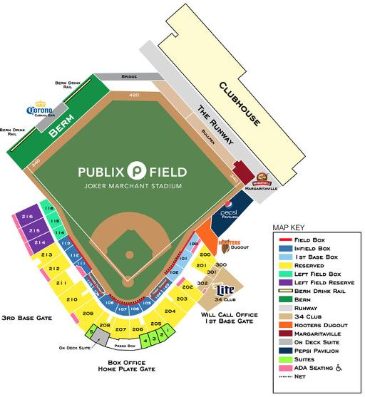 Publix field seating chart and ticket pricing lakeland flying