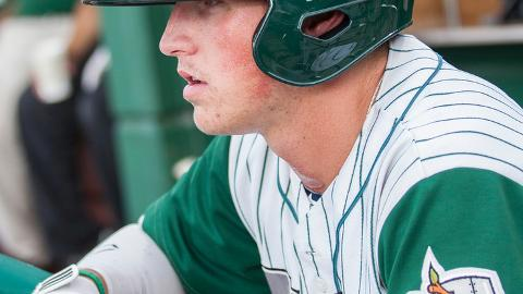 Hunter Renfroe's double was Fort Wayne's lone extra-base hit Saturday.