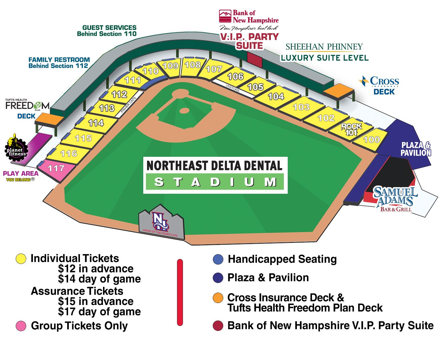 Fisher Cats Group Ticket Pricing