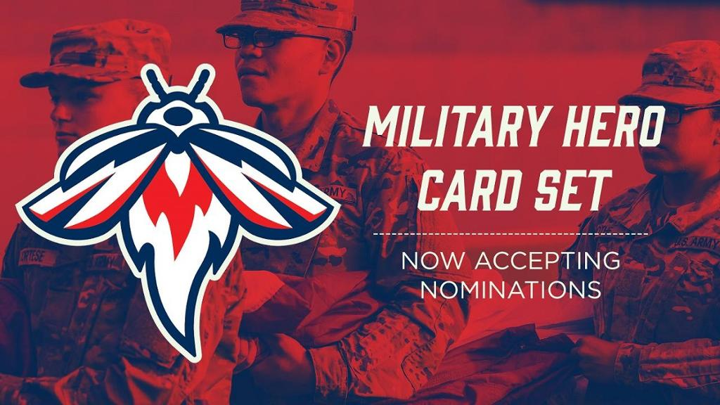 Fireflies Seek Nominations for the 3rd Annual Military Hero Baseball Card Set pres. by AllSouth FCU