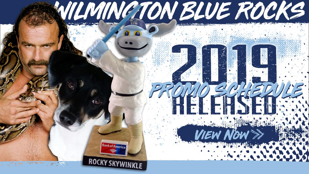 Blue Rocks Release 2019 Promotional Schedule Wilmington Blue Rocks