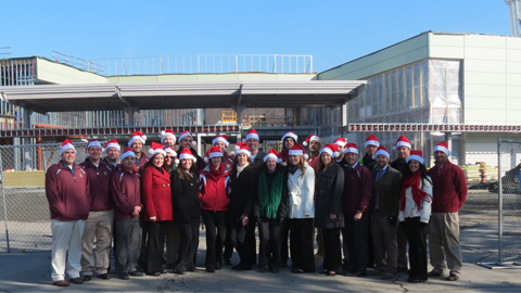 The front office staff as featured in our 2012 holiday card.