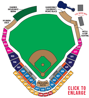 First Tennessee Park Seating Chart