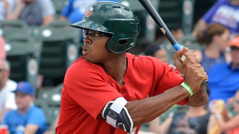 Buddy Reed tied for sixth on the Class A Fort Wayne TinCaps with six homers in 88 games in 2017.