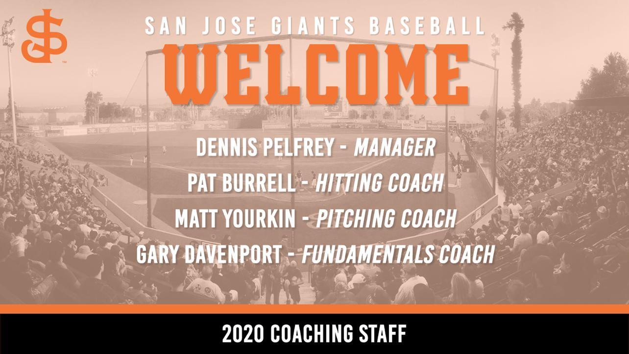 San Jose Giants Announce 2020 Coaching Staff
