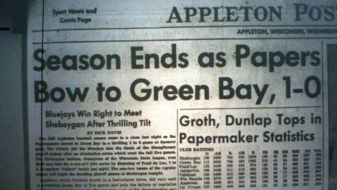 The news wasn't good for the home team on the day after Game Five of the 1942 playoff series between the Appleton Papermakers and the Green Bay Bluejays.