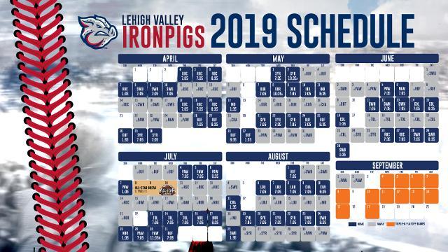 Ironpigs Schedule 2020 IronPigs announce 2019 schedule | Lehigh Valley IronPigs News