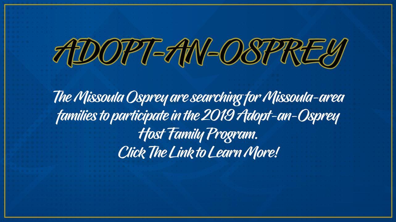 Osprey Seek Host Families for 2019 Team