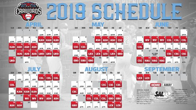 Honda Of Hickory >> 2019 Crawdads Schedule Released | Crawdads