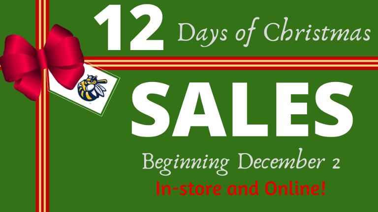 BURLINGTON BEES UNVEIL 12 DAYS OF CHRISTMAS SPECIALS