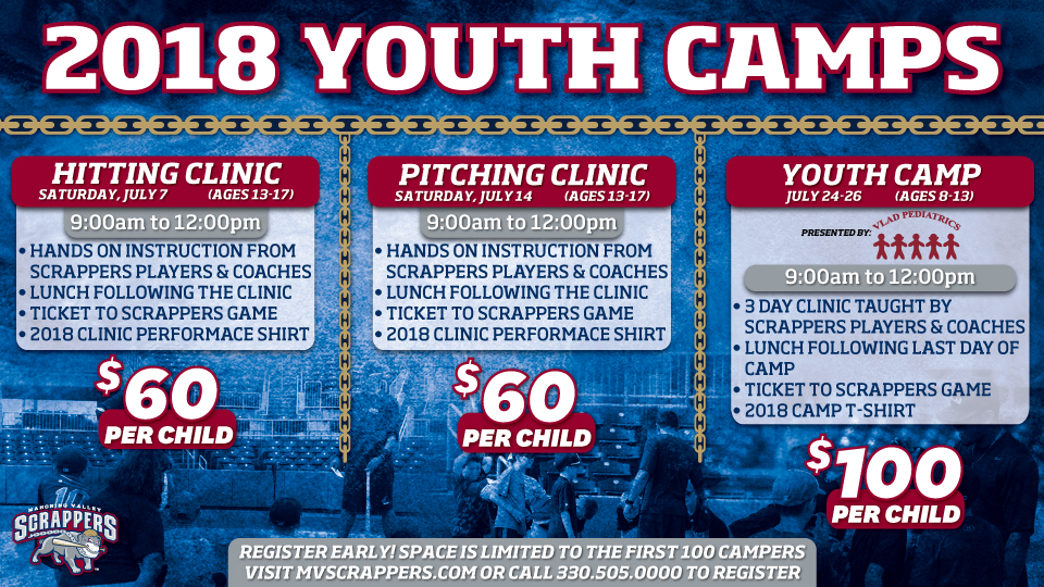 Scrappers Host Youth Baseball Camp One Day Hitting Pitching