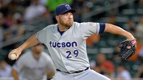 Tucson's Sean O'Sullivan twice showed his skills with the bat against Fresno.