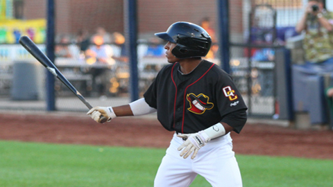 Tony Kemp went 2-for-4 and drove in his first Midwest League run in his Modern Woodmen Park debut on Wednesday.