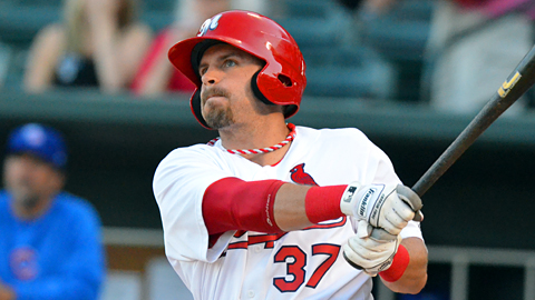 Memphis' Brock Peterson leads the PCL with 19 home runs.