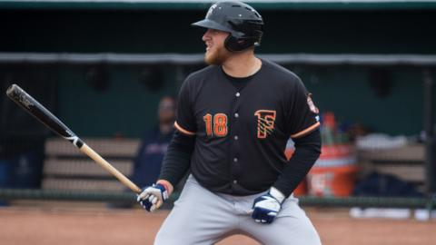 A.J. Reed has mashed 89 dingers across 387 Minor League games and he's also had 128 at-bats in