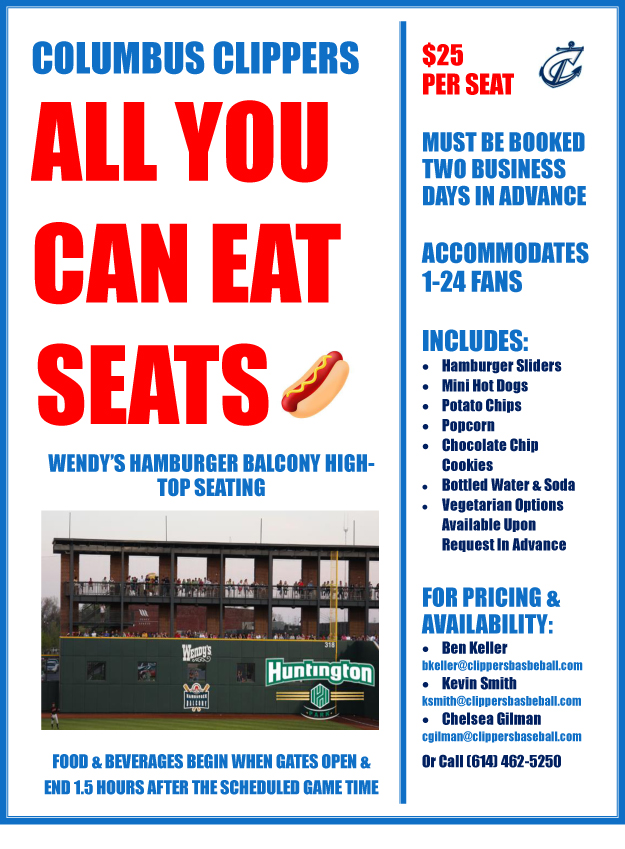 All You Can Eat Seats Columbus Clippers Content