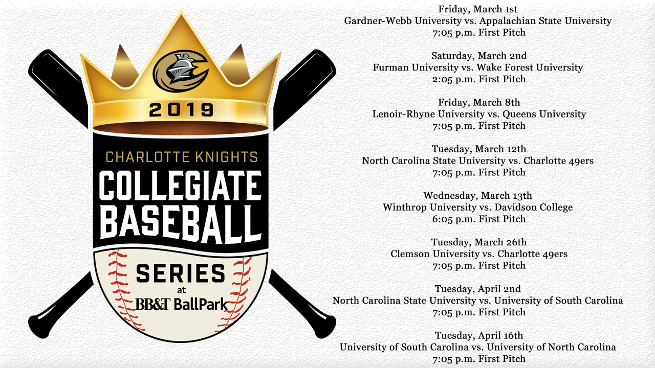 image relating to 49ers Printable Schedule named 2019 Collegiate Baseball Collection Routine Charlotte Knights