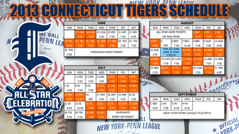 Detroit Tigers Schedule 2013