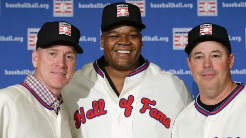 Tom Glavine, Frank Thomas and Greg Maddux will enter Cooperstown in July.