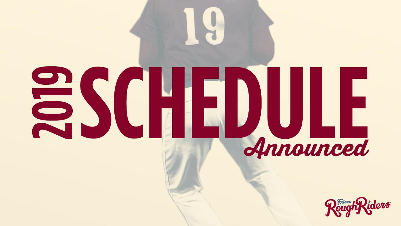 photograph relating to Texas Rangers Printable Schedule referred to as RoughRiders announce 2019 program Frisco RoughRiders Information