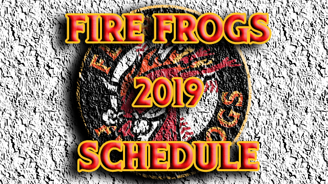Fire Frogs Announce 2019 Game Times and Ticket Prices