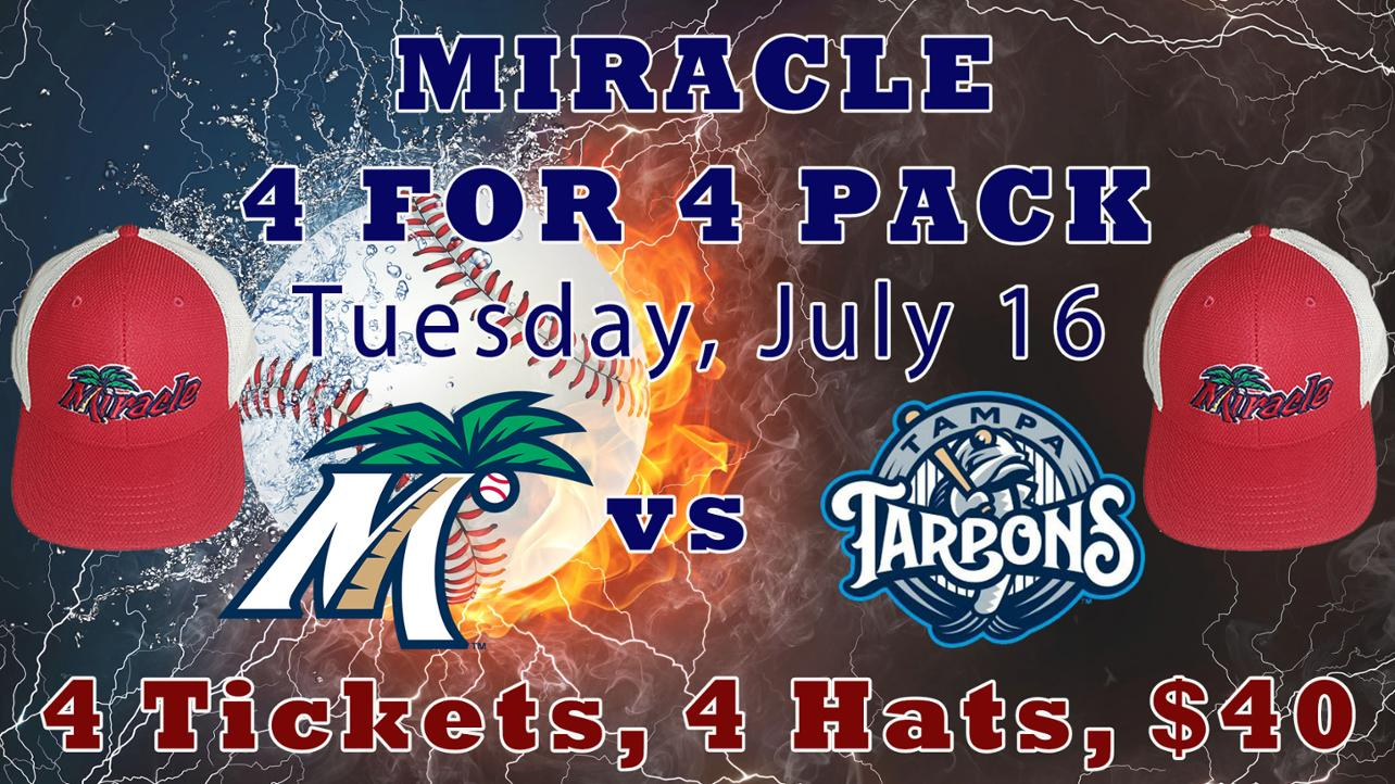 Miracle 4 for 4 Pack Ticket Offer