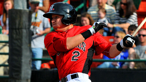Hickory's Ryan Rua leads the Minor Leagues with 28 home runs.