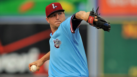 Ethan Martin ranks second in the International League with 11 wins.