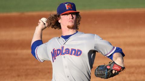 Grant Holmes has surrendered nine hits in 19 innings over his last three starts.