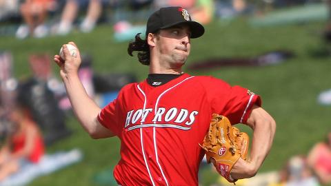 Taylor Guerrieri underwent Tommy John surgery in late July.