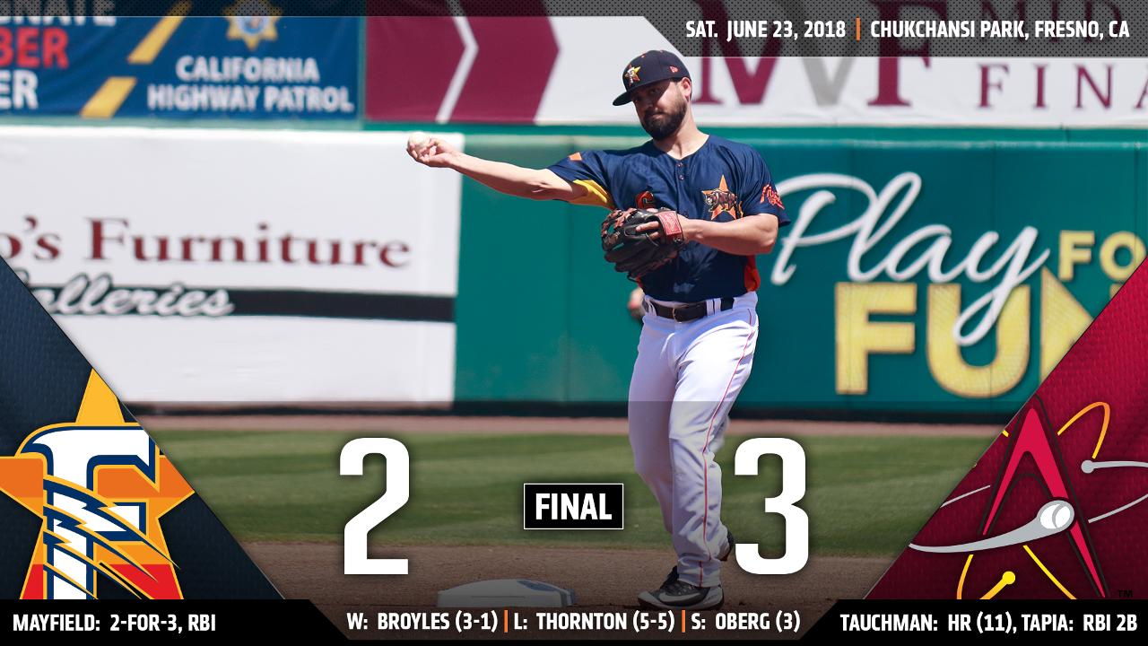 Tauchmans Late Bomb Downs Grizzlies In Game 1 Of Dh Fresno Kyle Tucker Expands Team High Hit Streak To 12 Games With A Single The Seventh