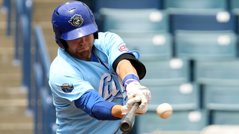 Dustin Geiger ranks sixth in the Florida State League with a .331 average.
