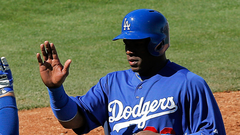 Yasiel Puig has nine hits over his last four Spring Training games.