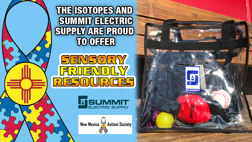 Isotopes Park to Provide Sensory Bags at all 2019 Home Games