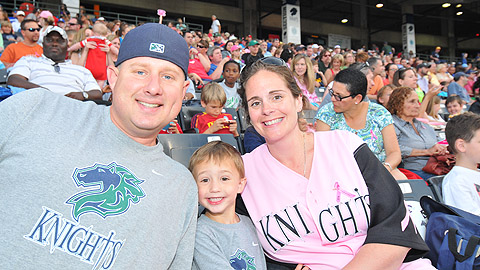 Fans enjoyed Pink Knights at Knights Stadium in 2013.