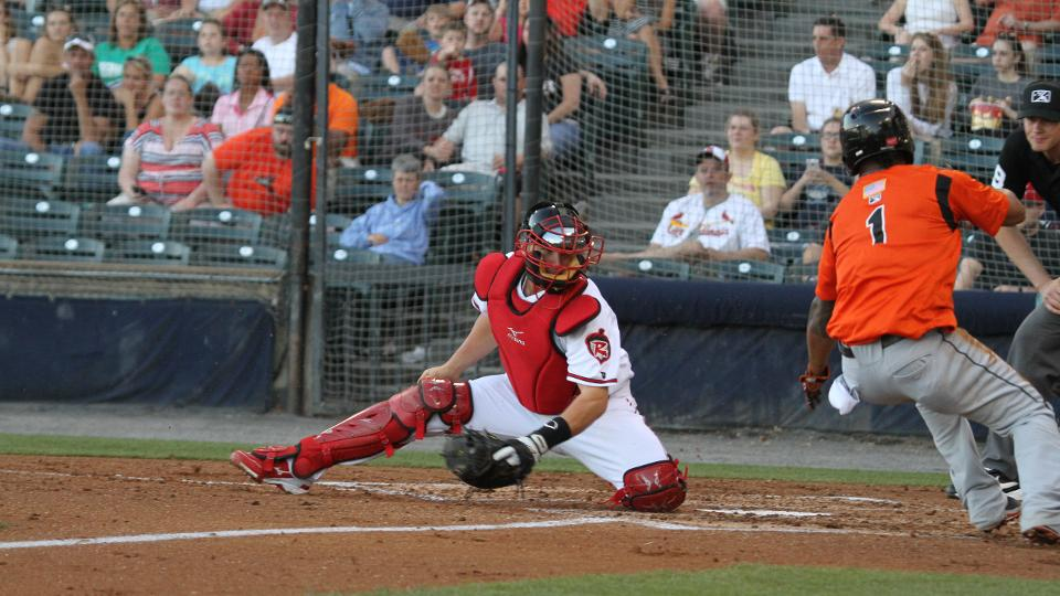 a28dfb257e Catch Me If You Can; Squirrels Catcher Jackson Williams | Richmond ...