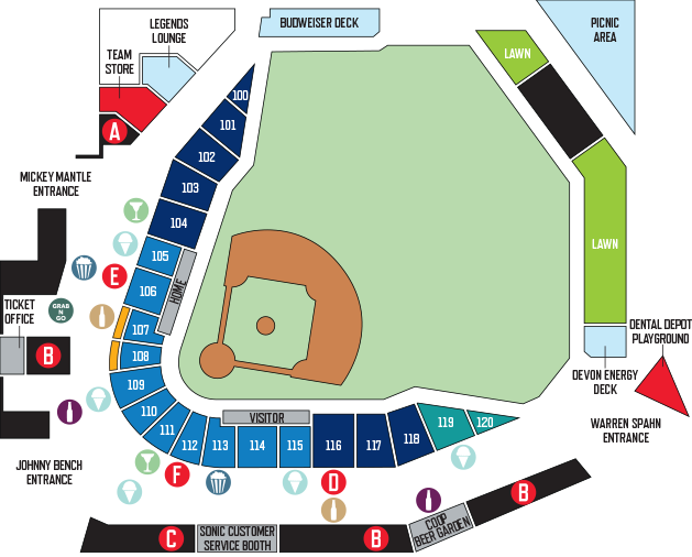 Concessions Map | Dodgers