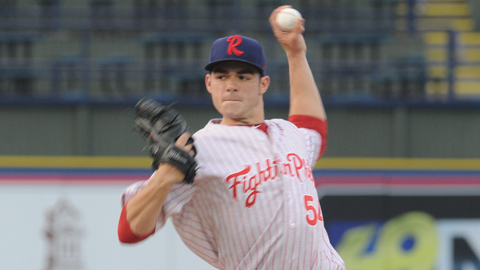 Jesse Biddle struck out 16 batters over seven scoreless innings Monday night.