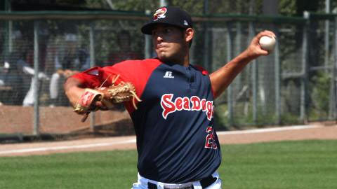 Mickey Pena owned a 1.35 ERA in three August starts for Salem before his call-up.