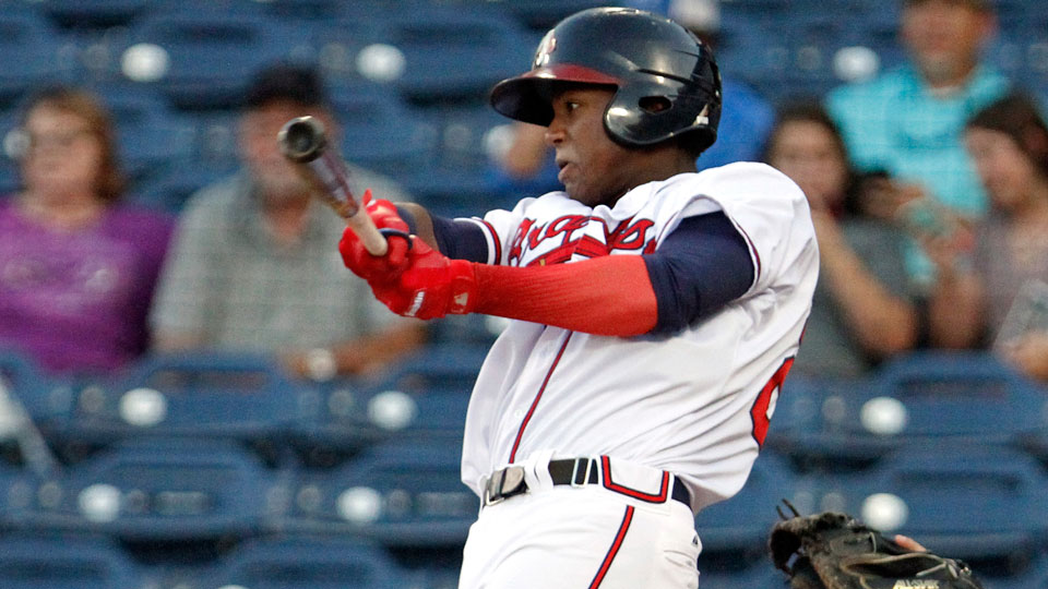 504a4e787 Ronald Acuna has combined to hit .313 .361 .506 with 12 homers and 33  steals across two levels this year. (Ed Gardner MiLB.com)